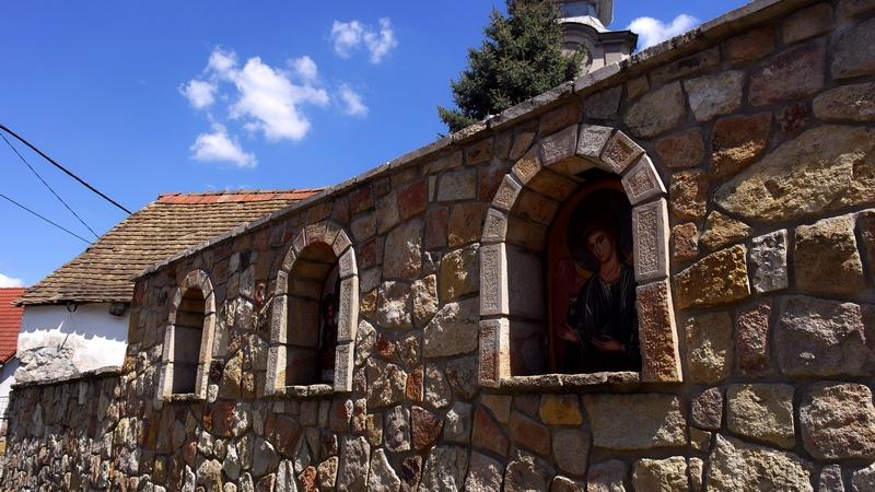 Szerb templom kerítése Budakalász