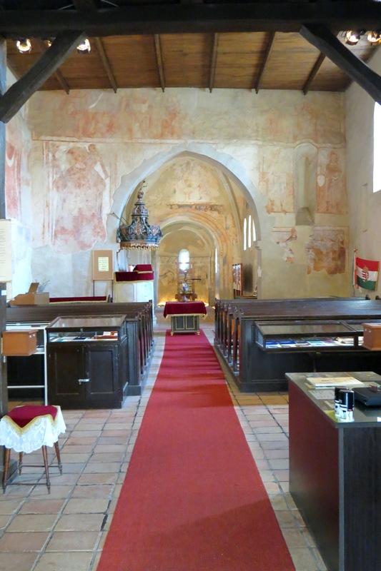 A vizsolyi templom belseje